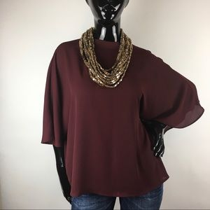 Worthington Poncho Top